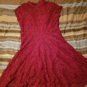 My Michelle Maroon Dress